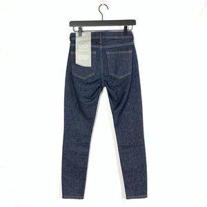 EVERLANE Stretch Dark Wash Mid Rise Skinny Jeans